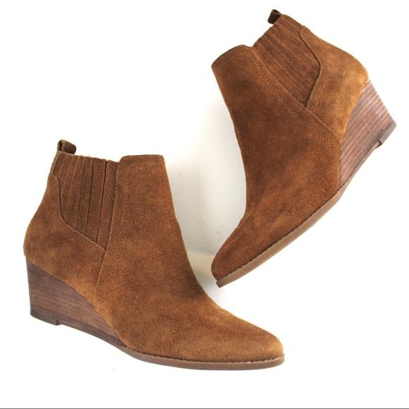 Franco Sarto Shoes - Franco Sarto Wayra Suede Wedge Bootie